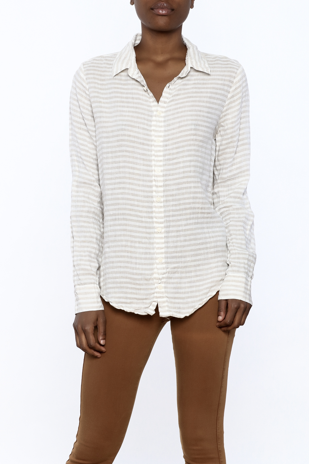 CP Shades Linen Beach top - Front Cropped Image