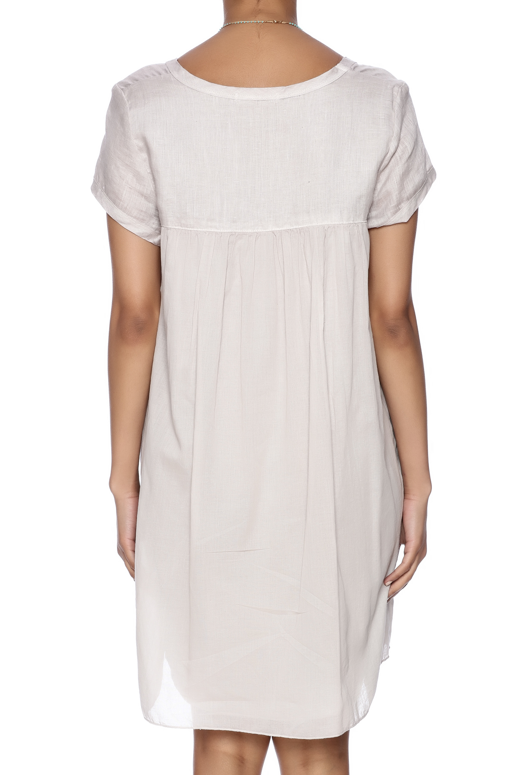 CP Shades Linen Tunic - Back Cropped Image
