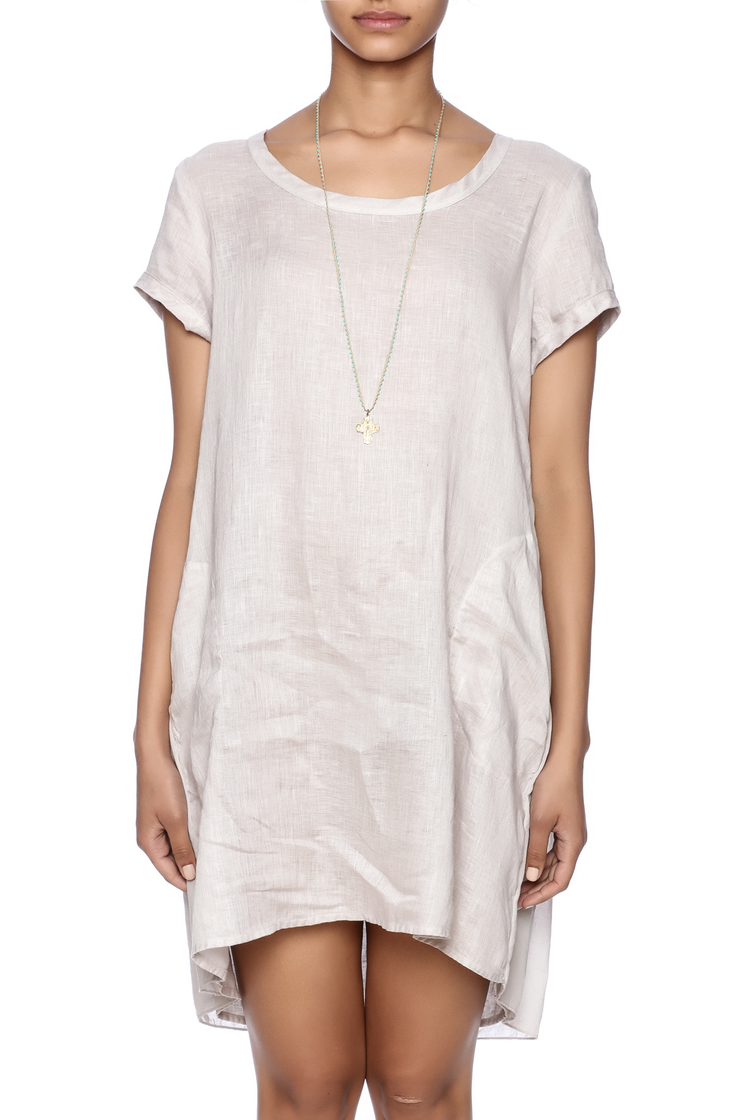 CP Shades Linen Tunic - Side Cropped Image