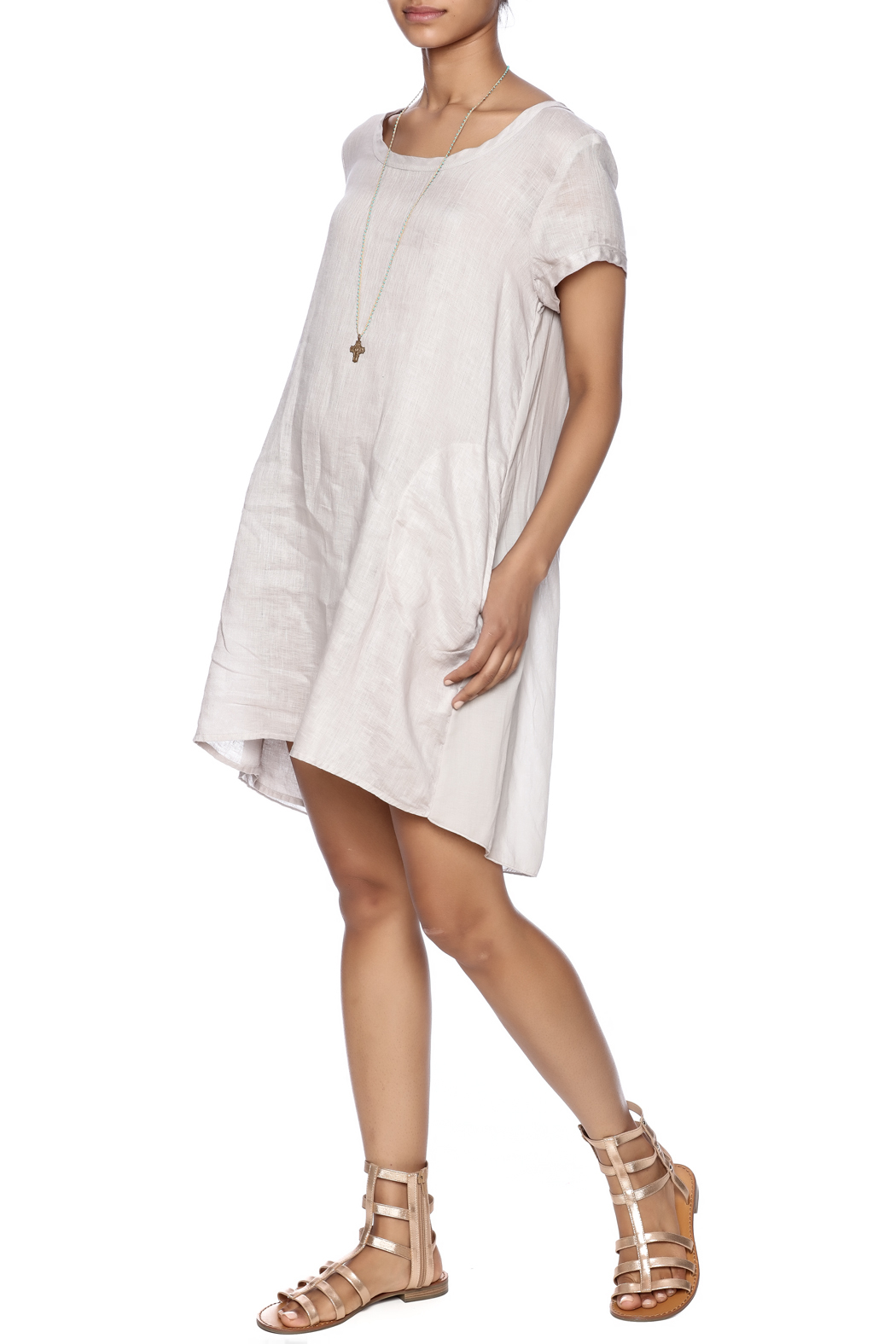 CP Shades Linen Tunic - Front Full Image