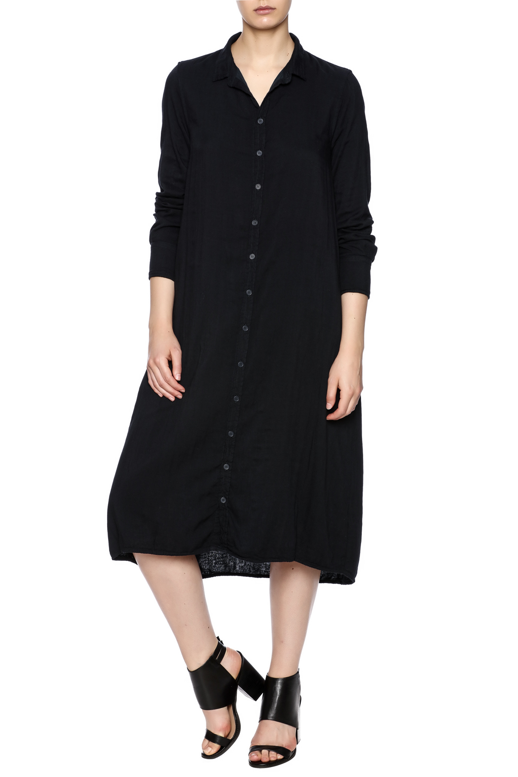 CP Shades Navy Shirt dress - Main Image