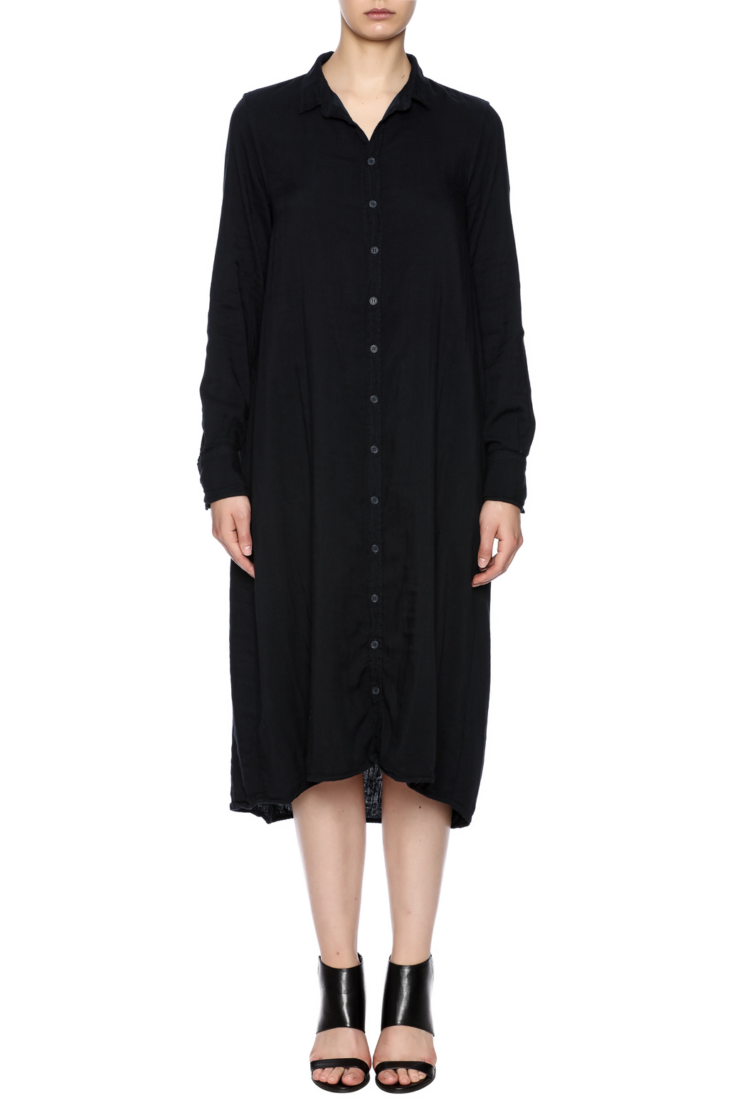 CP Shades Navy Shirt dress - Front Cropped Image