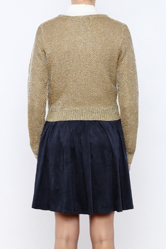 CQ By Caribbean Queen Gold Cropped Sweater - Alternate List Image
