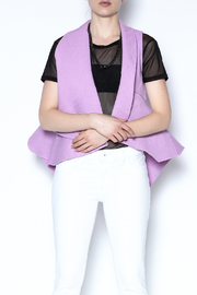 CQ By Caribbean Queen Purple Quilted Vest - Other