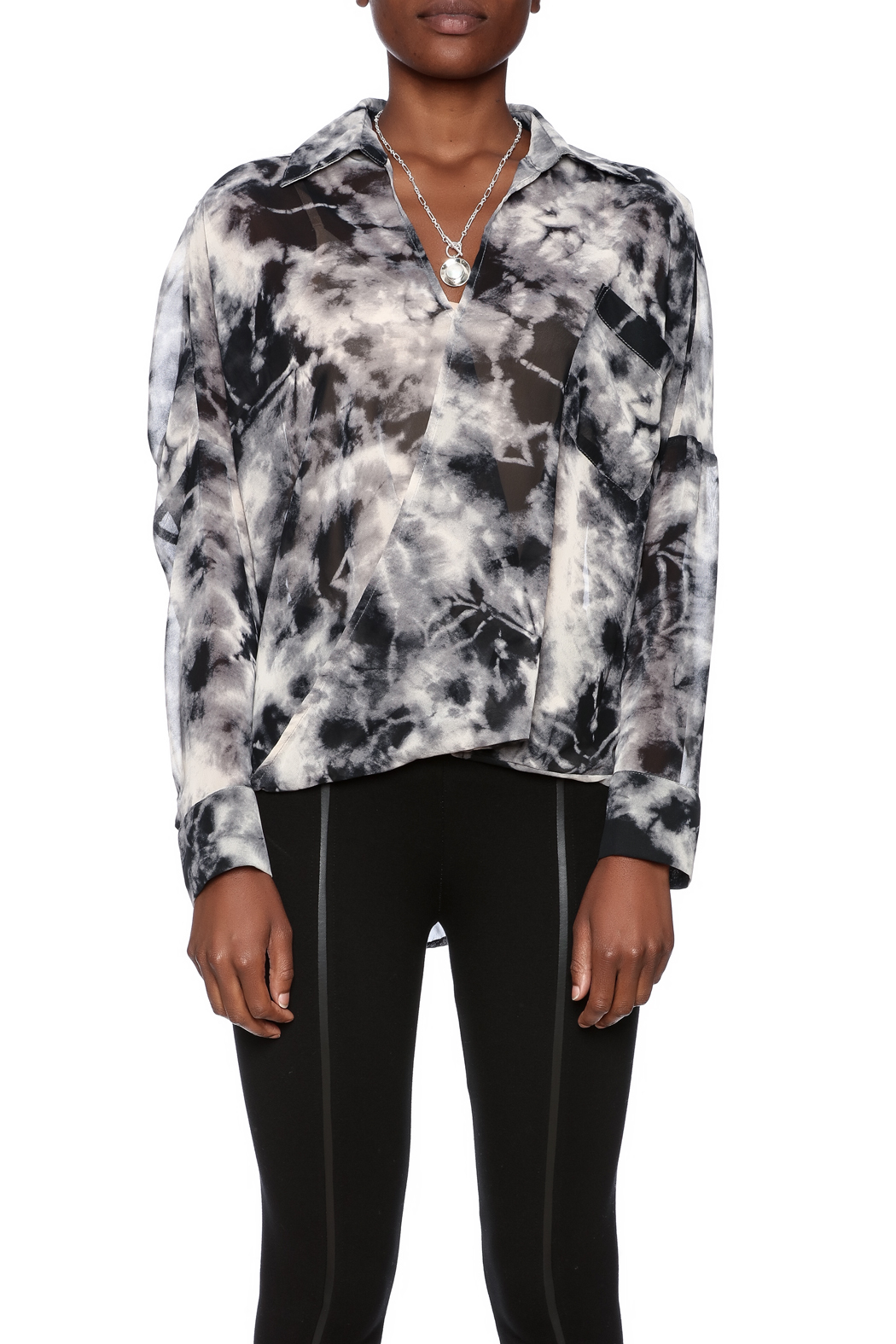 CQ By Caribbean Queen Smokey Cari Blouse - Side Cropped Image