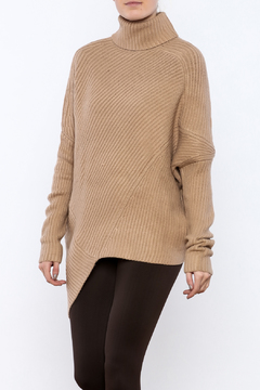 Shoptiques Product: Taupe Asymmetrical Sweater
