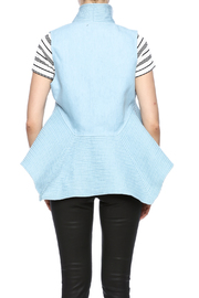 cq by cq Quilted Flare Vest - Back cropped