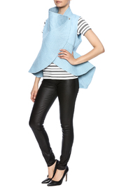cq by cq Quilted Flare Vest - Front full body