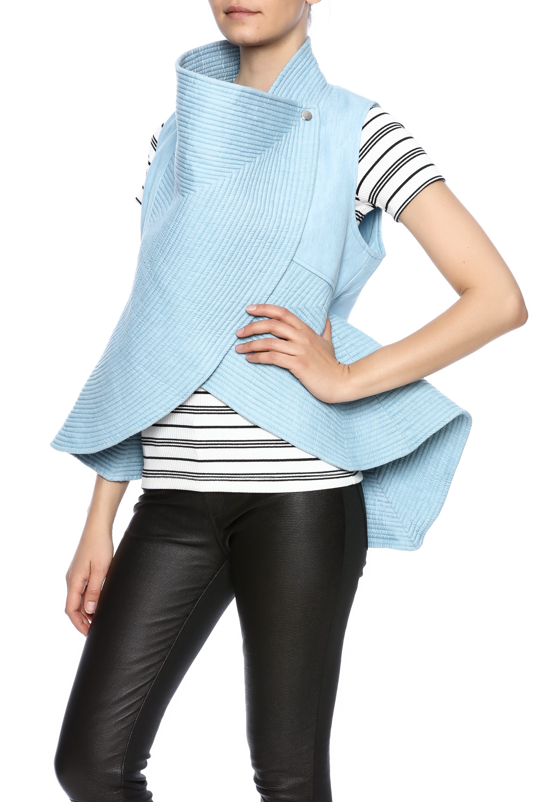 cq by cq Quilted Flare Vest - Main Image