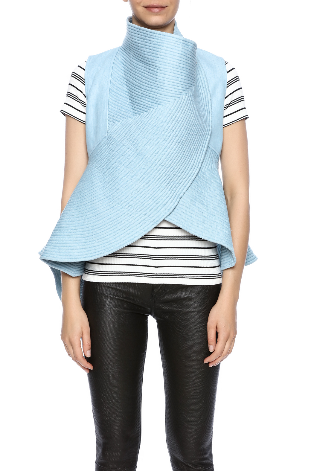 cq by cq Quilted Flare Vest - Side Cropped Image