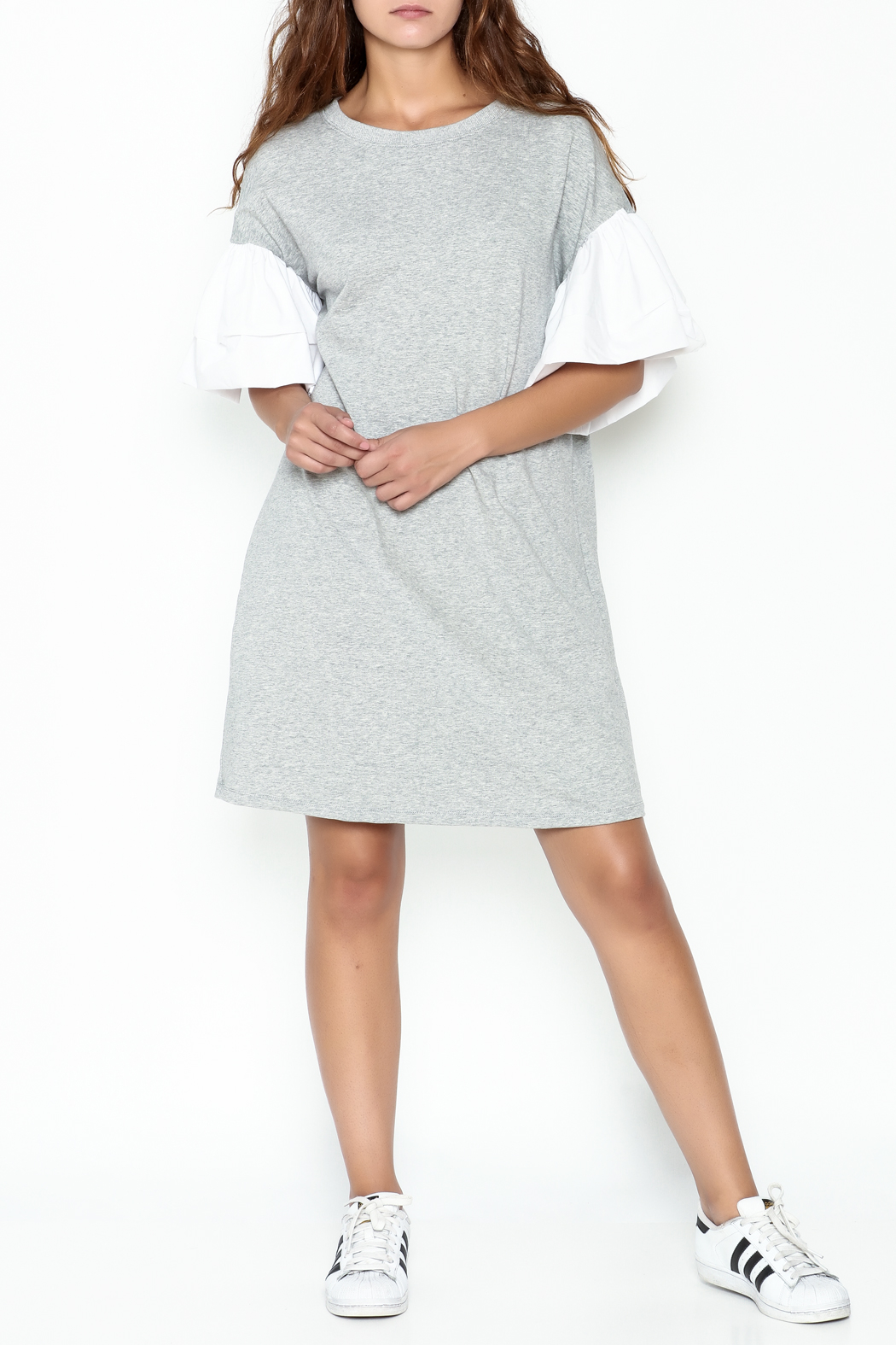 cq by cq Contrast Sleeve Shift Dress - Side Cropped Image