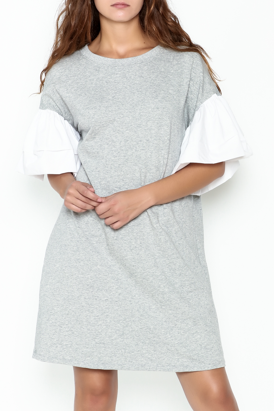 cq by cq Contrast Sleeve Shift Dress - Main Image