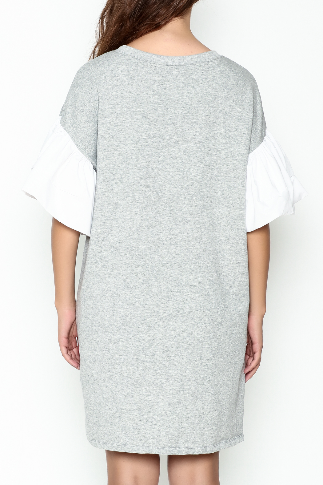 cq by cq Contrast Sleeve Shift Dress - Back Cropped Image