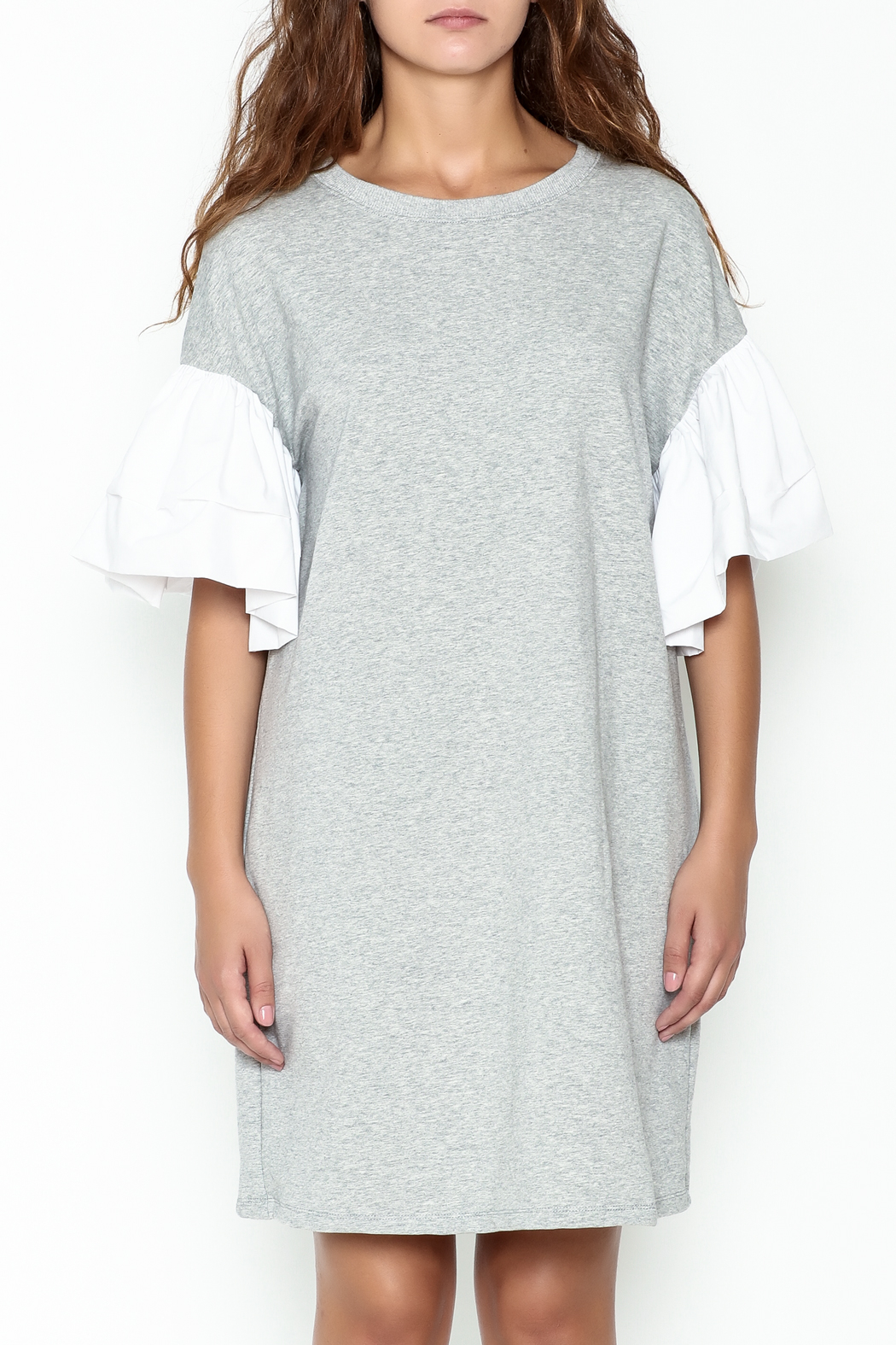 cq by cq Contrast Sleeve Shift Dress - Front Full Image