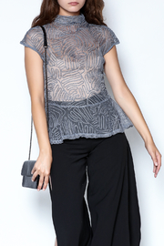 cq by cq Mesh Line Top - Product Mini Image