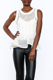 Shoptiques Product: White Peplum Top