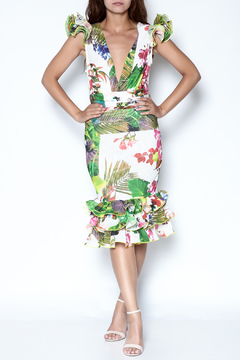 Shoptiques Product: Ruffle Print Dress