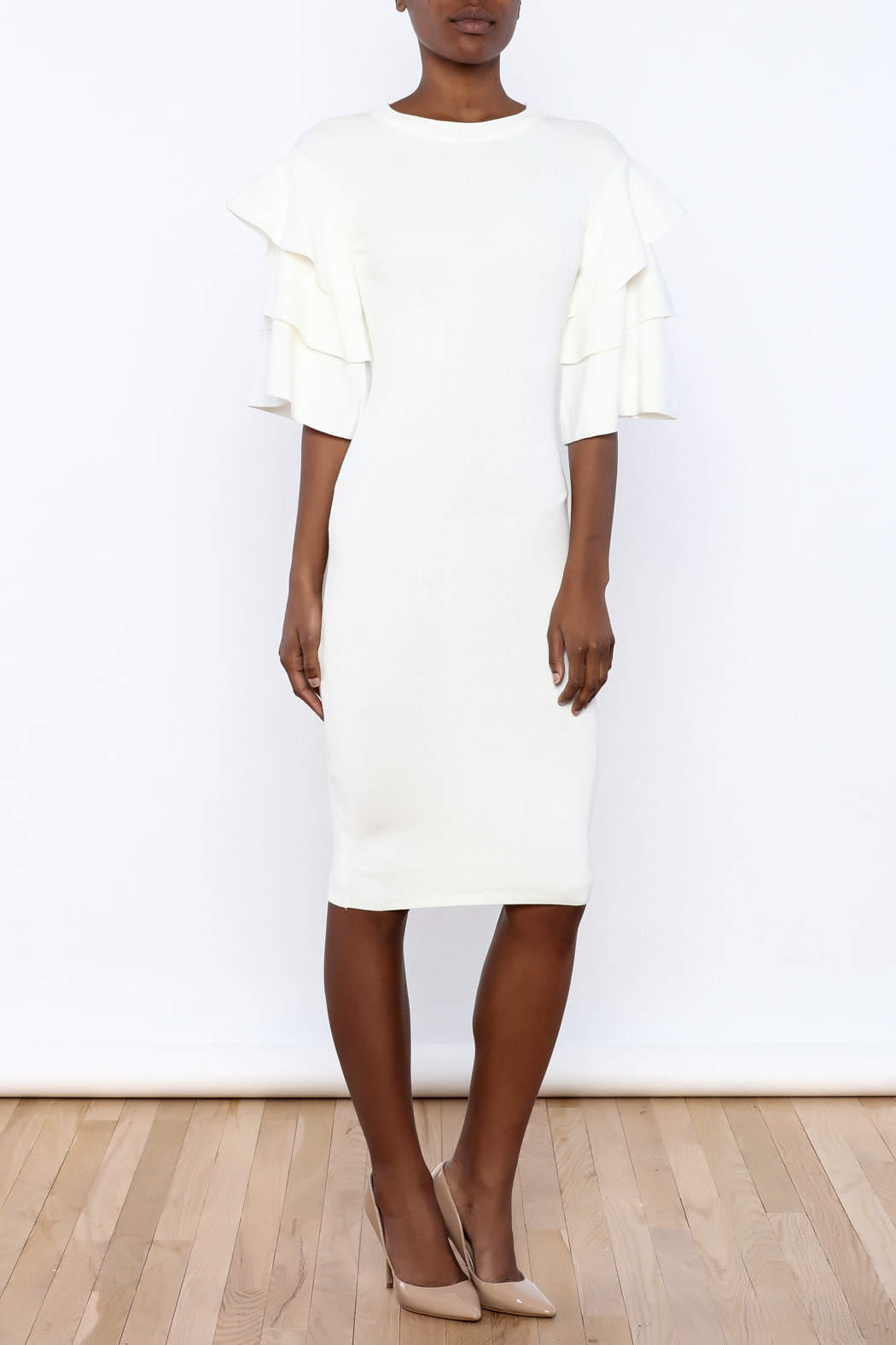 03c0d0fa384 cq by cq Ruffle Sleeve Sweater Dress from New York by Dor L Dor ...