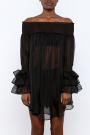 cq by cq Sheer Off Shoulder Top - Side cropped