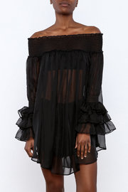 cq by cq Sheer Off Shoulder Top - Front cropped