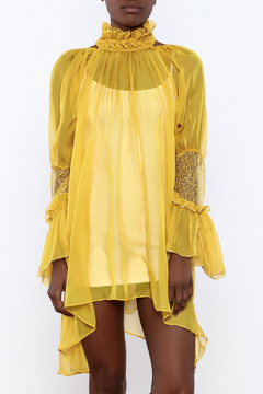 d789feb725 ... cq by cq Sheer Trumpet Sleeve Dress - Product List Image