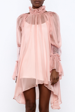 cq by cq Sheer Trumpet Sleeve Dress - Product List Image