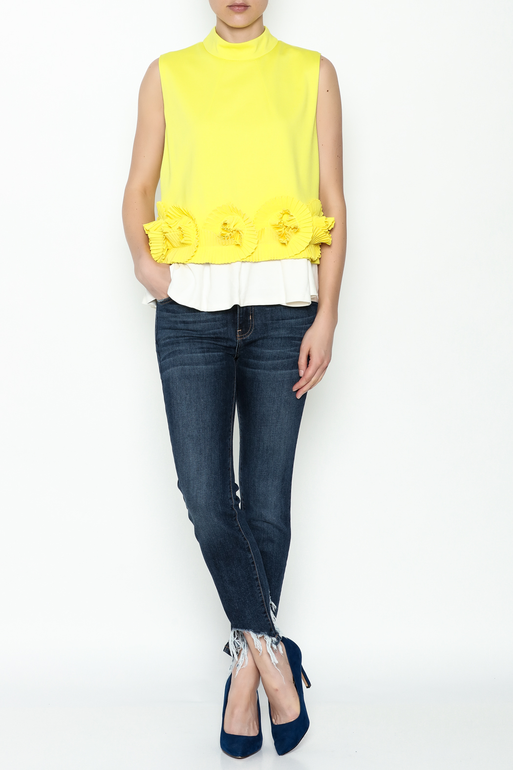 cq by cq Underlay Blouse - Side Cropped Image
