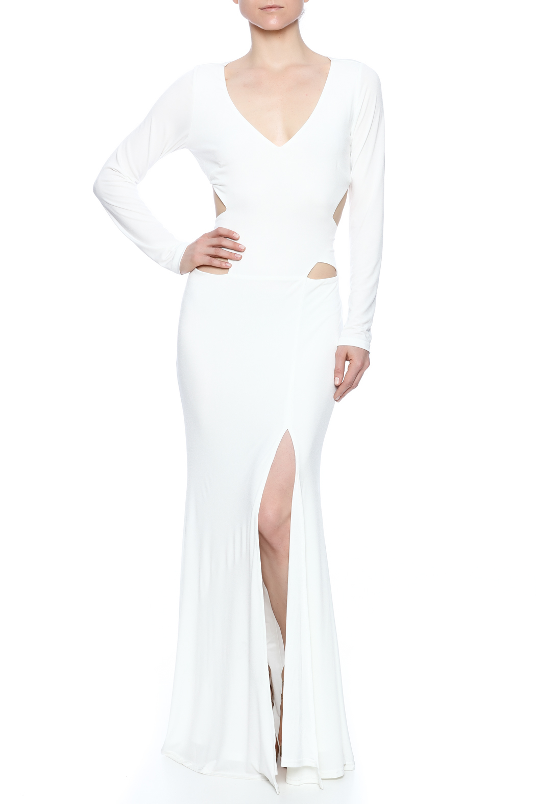 cq by cq White Cut Out Gown from South Carolina by Current Society ...