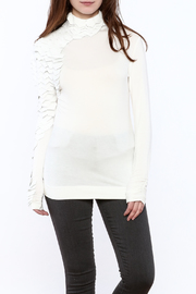 cq by cq White Leather Top - Product Mini Image