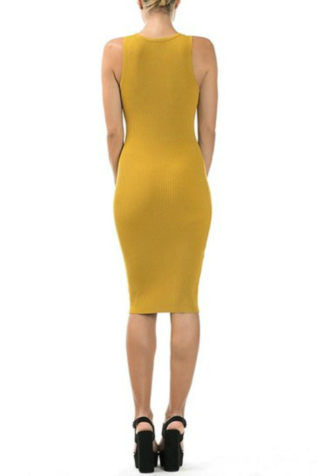 CQ By Caribbean Queen Mellow Yellow Dress - Side Cropped Image