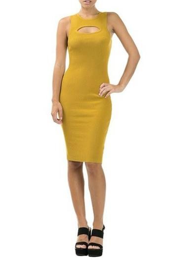 CQ By Caribbean Queen Mellow Yellow Dress - Main Image