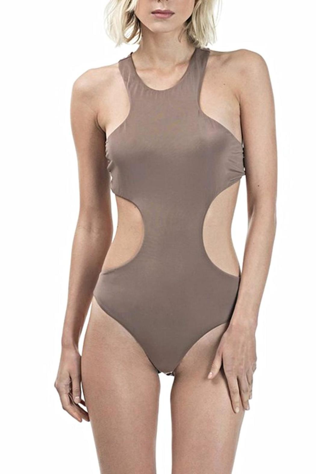 CQ By Caribbean Queen Peek-A-Boo Bodysuit - Front Full Image