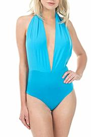 CQ By Caribbean Queen Plunging Halter Bodysuit - Product Mini Image
