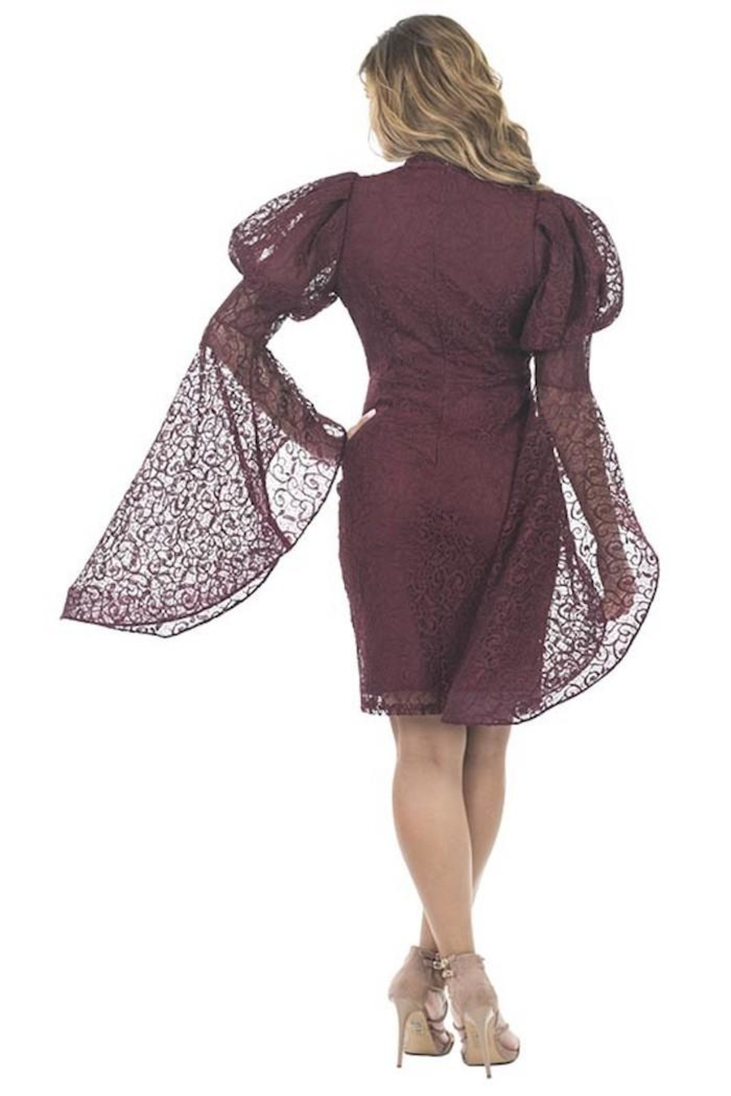 cq by cq Bell Sleeve Dress - Front Full Image
