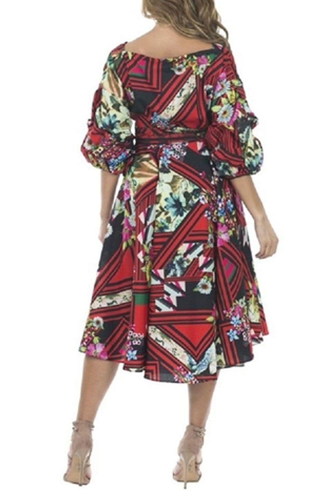 cq by cq Floral Flowy Dress - Front Full Image