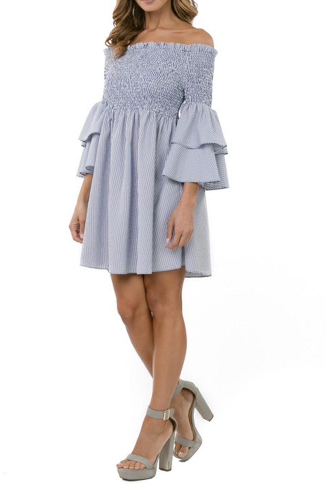 cq by cq Off Shoulder Dress - Side Cropped Image