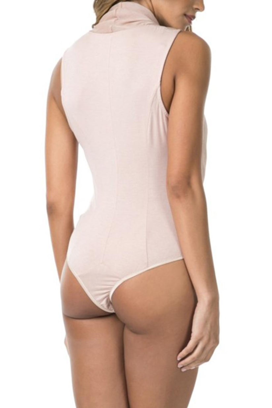 cq by cq Wrap Front Bodysuit - Back Cropped Image