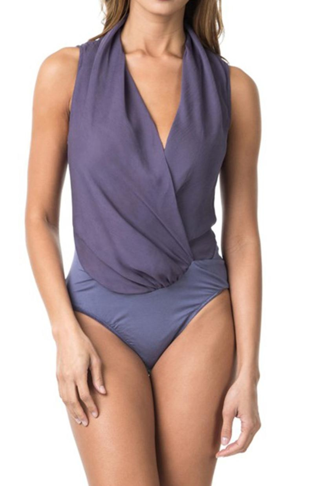cq by cq Wrap Front Bodysuit - Front Cropped Image