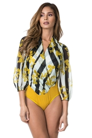 cq by cq Yellow Printed Bodysuit - Product Mini Image
