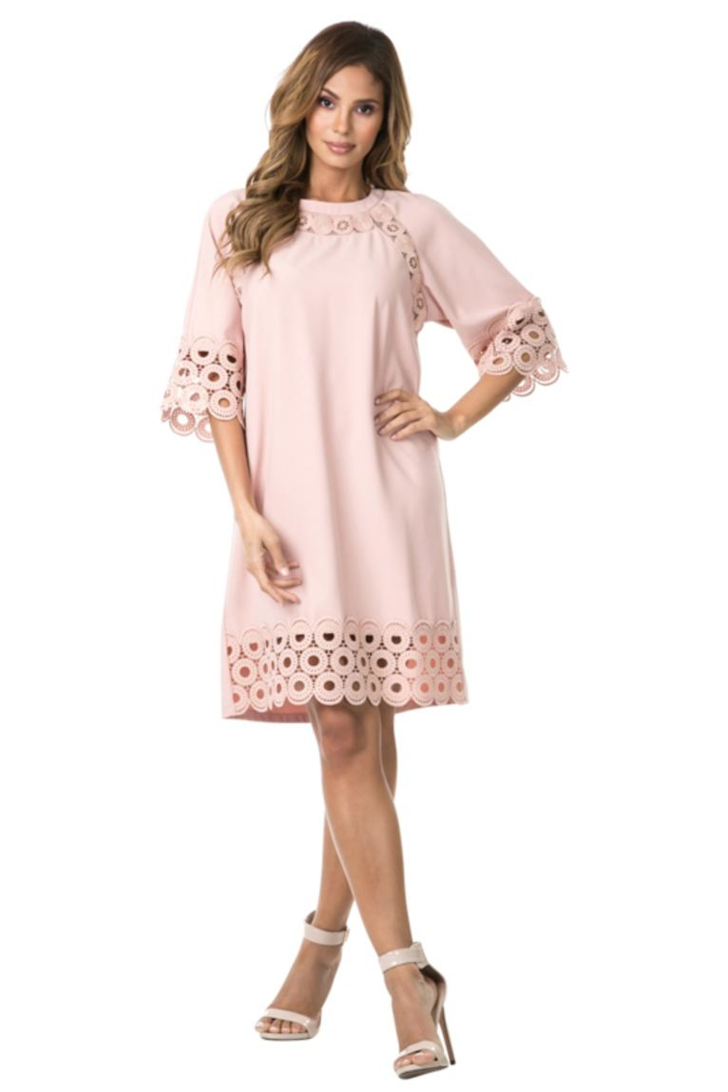 cqbycq Circled Crochet Dress - Main Image