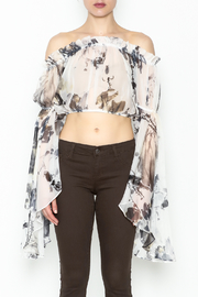 cqbycq Off Shoulder Crop Top - Front full body