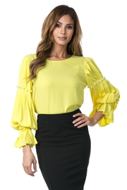cqbycq Pearl Pleated Blouse - Product Mini Image