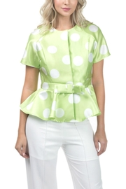cqbycq Peplum Blouse Top - Front cropped
