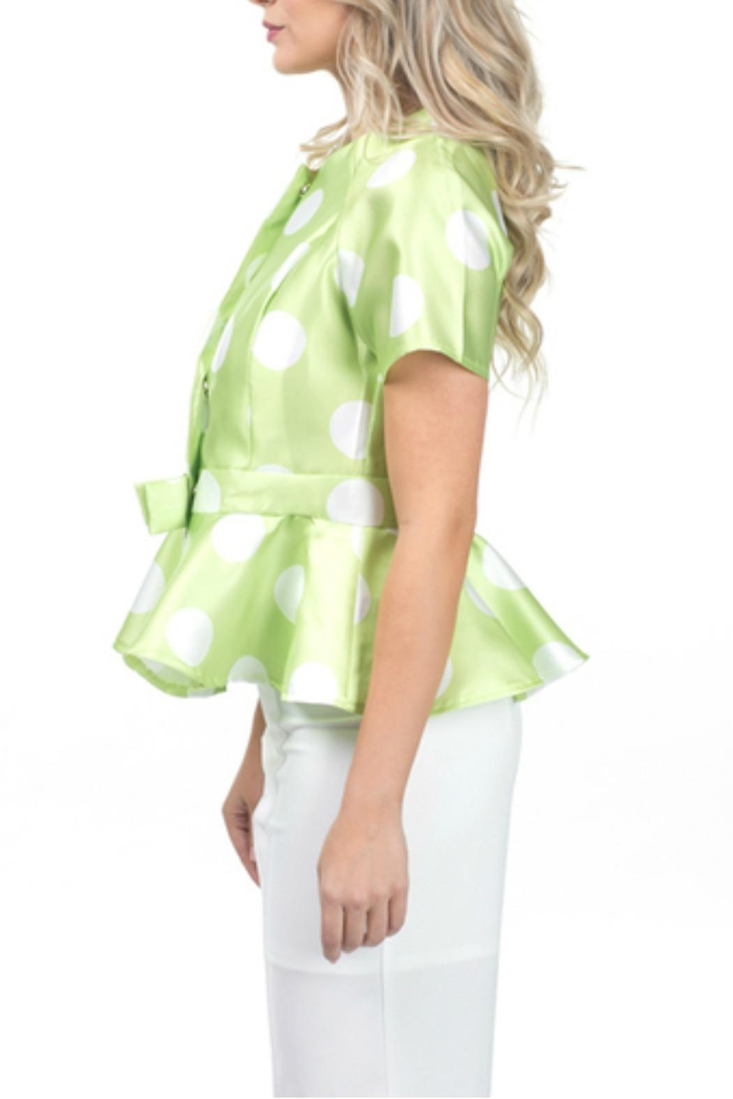 cqbycq Peplum Blouse Top - Front Full Image