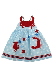 Cotton Kids Crab Regatta Dress - Front cropped