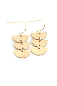 Crafts and Love Half Circle Earrings - Product List Image