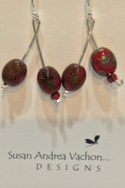 438-1011 Cranberry Branch Earrings - Product Mini Image