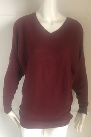 RD Style Cranberry V-Neck Sweater - Product Mini Image