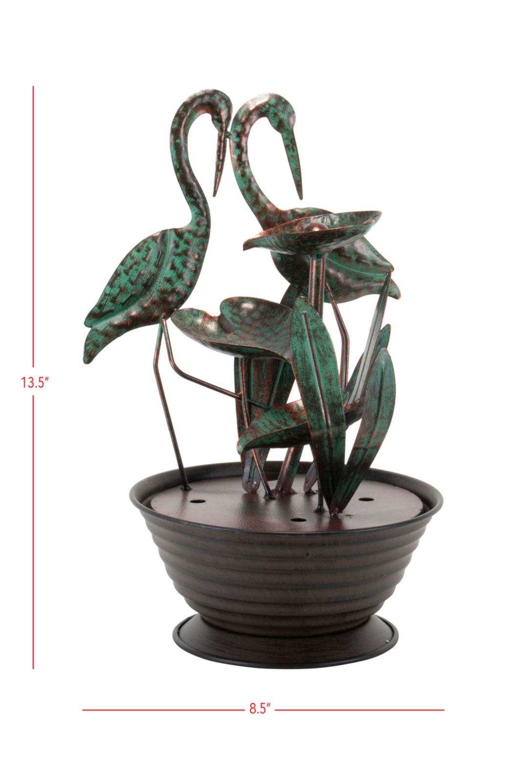 Foreside Home & Garden Crane Indoor Water Fountain With Pump - Front Full Image