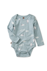Tea Collection Crane Printed Bodysuit - Front cropped